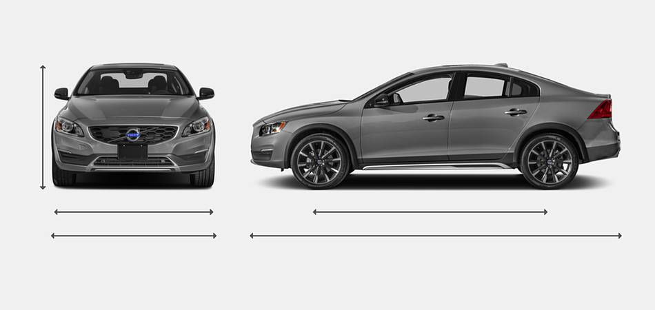2018 Volvo S60 Cross Country Exterior Dimensions