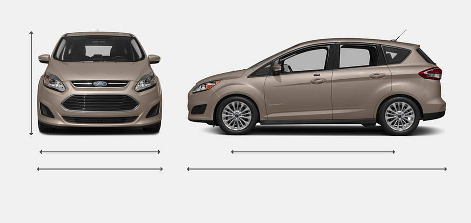 2018 Ford C-Max Hybrid Exterior Dimensions