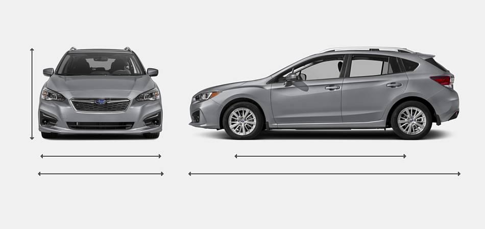 2018 Subaru Impreza Sedan Exterior Dimensions