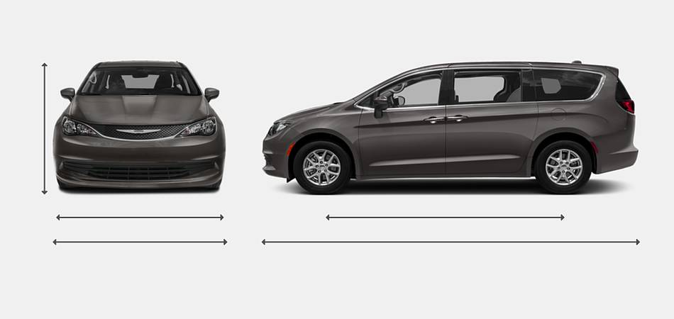 2018 Chrysler Pacifica Exterior Dimensions