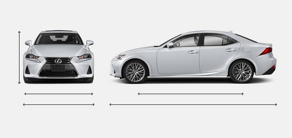 2018 Lexus IS 300 Exterior Dimensions