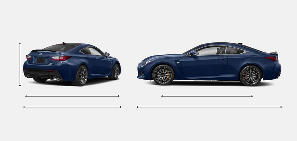 2018 Lexus RC F Exterior Dimensions