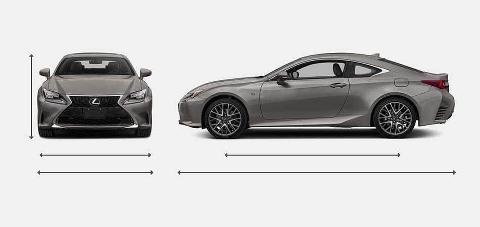 2018 Lexus RC 350 Exterior Dimensions