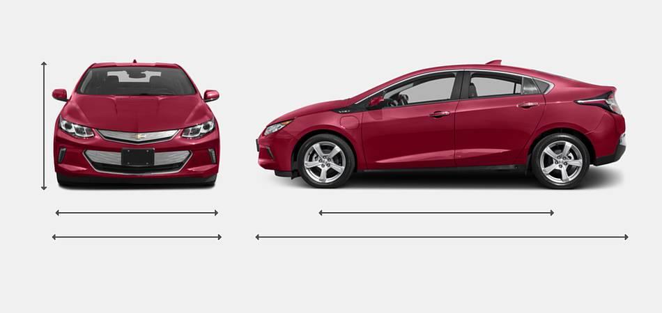 2017 Chevrolet Volt Exterior Dimensions