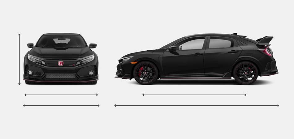 2018 Honda Civic Hatchback Type R Touring Exterior Dimensions