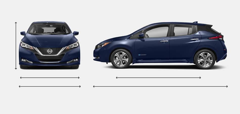 2018 Nissan Leaf Exterior Dimensions