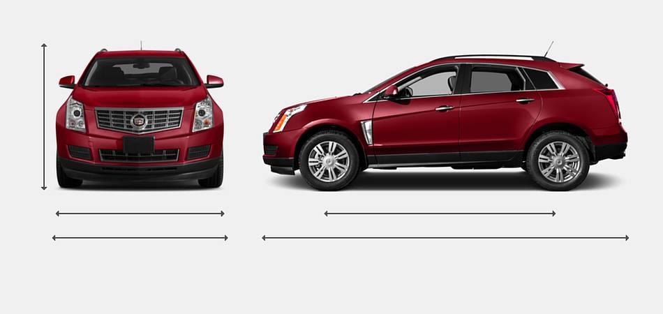 2016 Cadillac SRX Exterior Dimensions