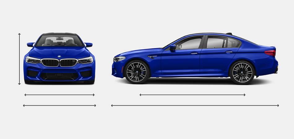 2019 BMW M5 Sedan Exterior Dimensions