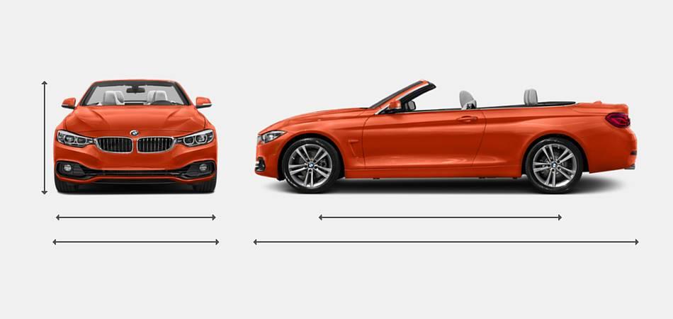 2019 BMW 4 Series Convertible Exterior Dimensions