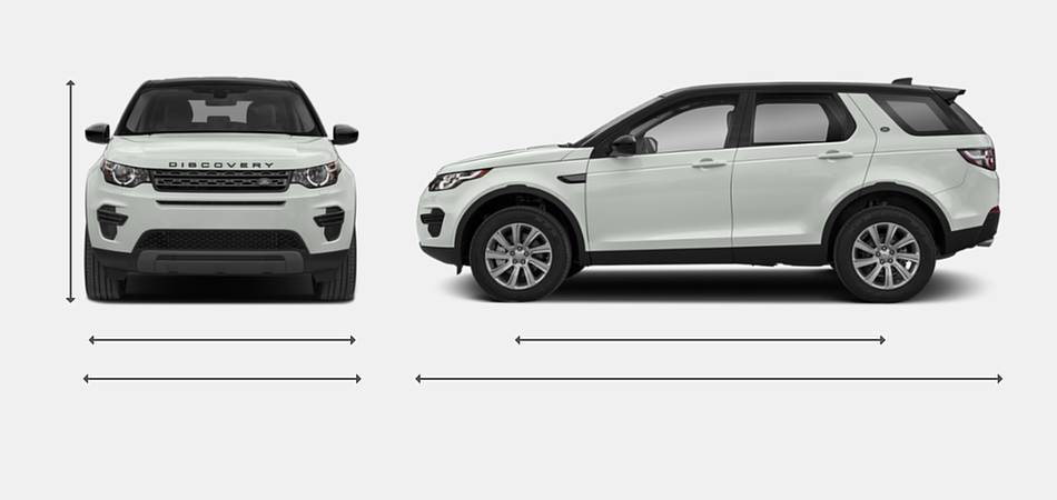 2019 Land Rover Discovery Sport Exterior Dimensions