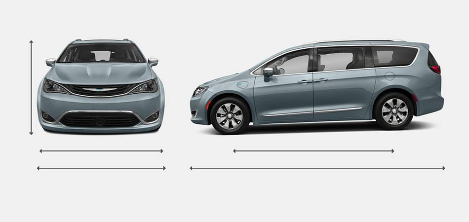 2018 Chrysler Pacifica Hybrid Exterior Dimensions