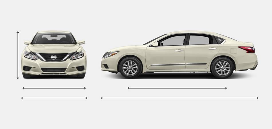 2017 Nissan Altima Exterior Dimensions