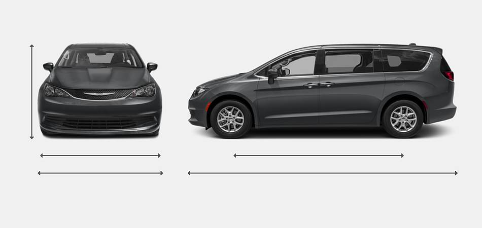 2017 Chrysler Pacifica Exterior Dimensions