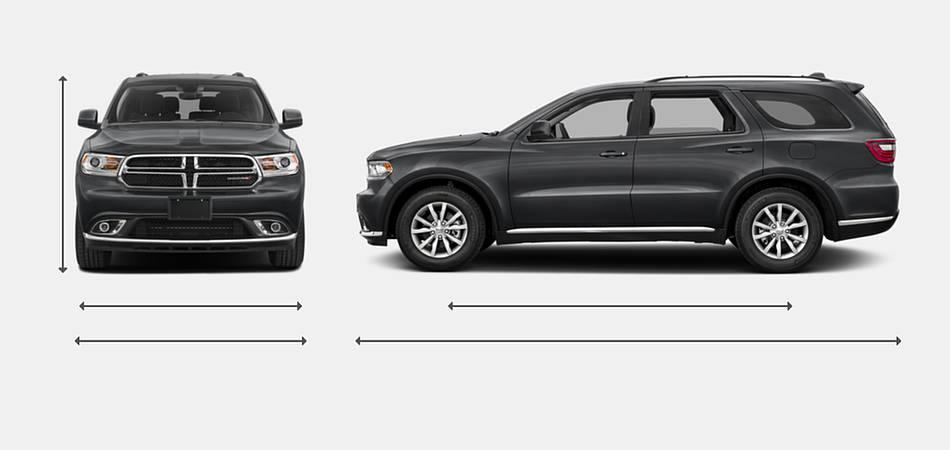 2017 Dodge Durango Exterior Dimensions