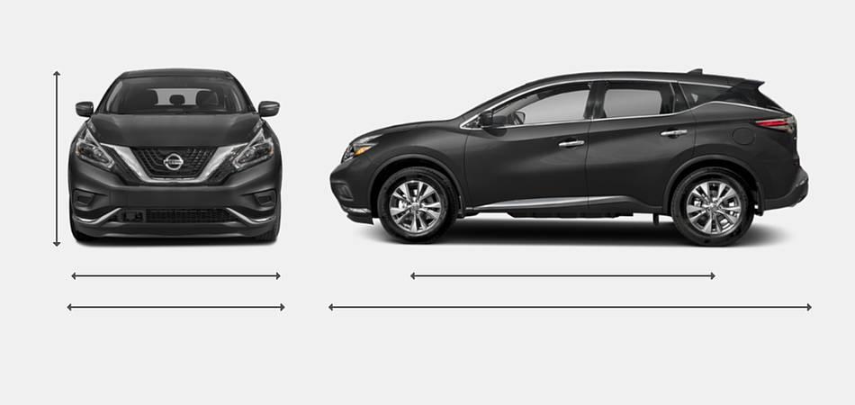 2018 Nissan Murano Exterior Dimensions