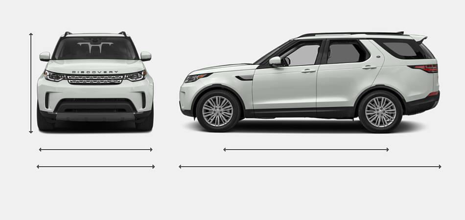 2019 Land Rover Discovery Exterior Dimensions
