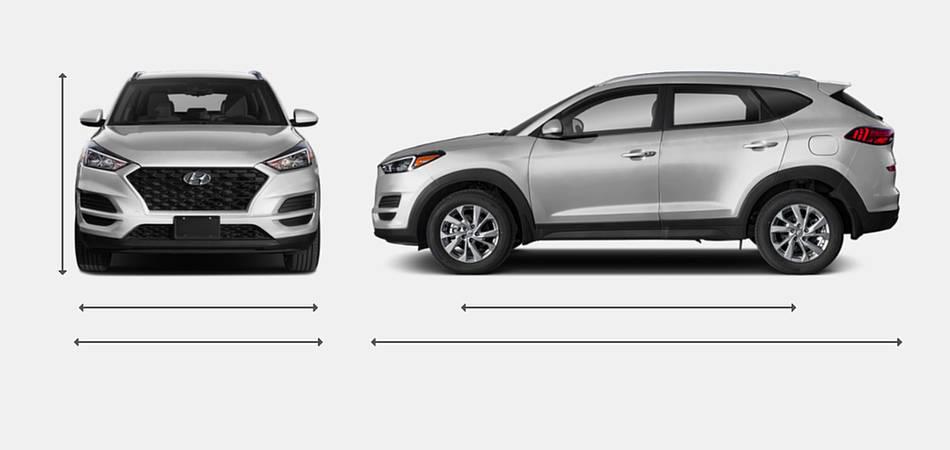 2019 Hyundai Tucson Exterior Dimensions