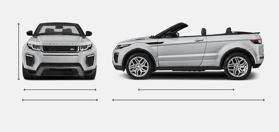 2019 Land Rover Range Rover Evoque Convertible Exterior Dimensions