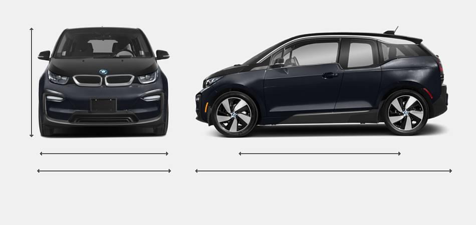 2019 BMW i3 Exterior Dimensions
