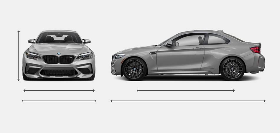 2019 BMW M2 Competition Coupe Exterior Dimensions