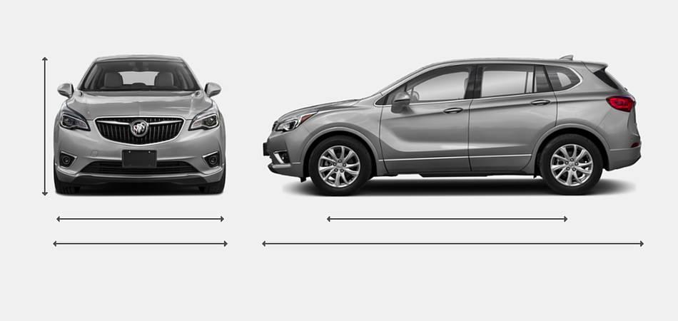 2019 Buick Envision Exterior Dimensions