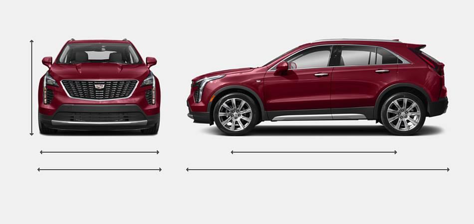 2019 Cadillac XT4 Exterior Dimensions