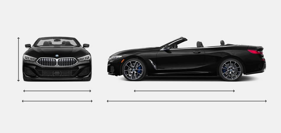 2019 BMW 8 Series Convertible Exterior Dimensions