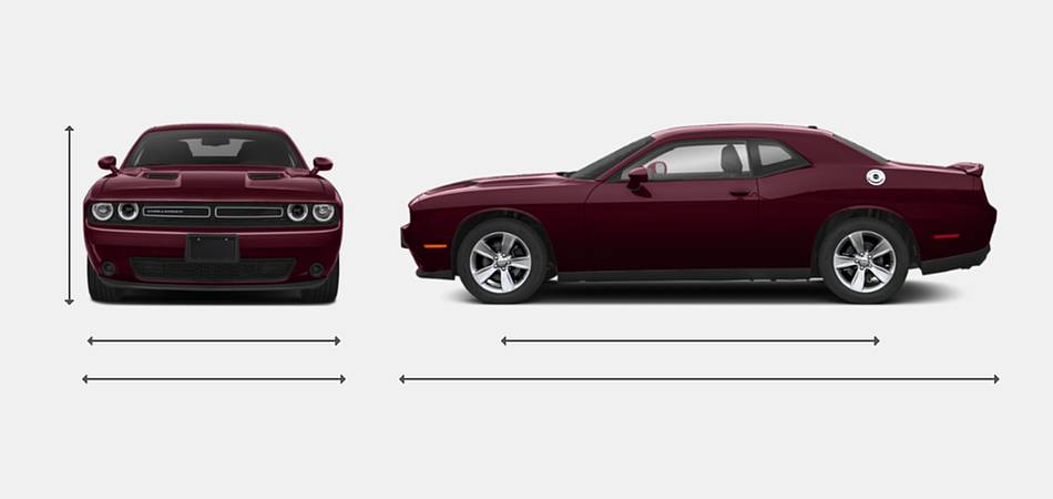 2019 Dodge Challenger Exterior Dimensions