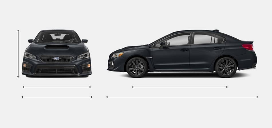 2018 Subaru WRX Exterior Dimensions