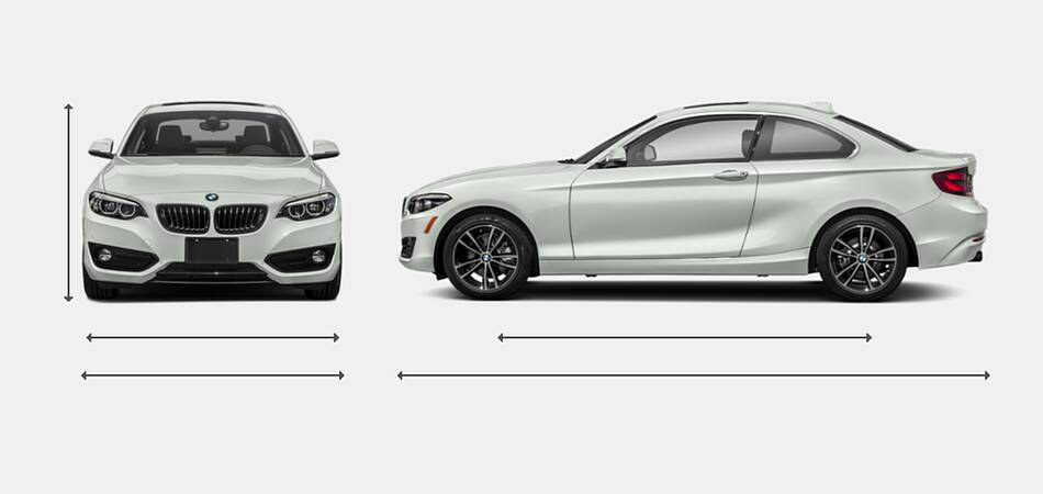 2020 BMW 2 Series Coupe Exterior Dimensions