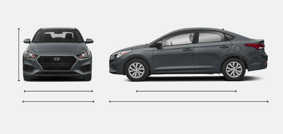 2020 Hyundai Accent Exterior Dimensions