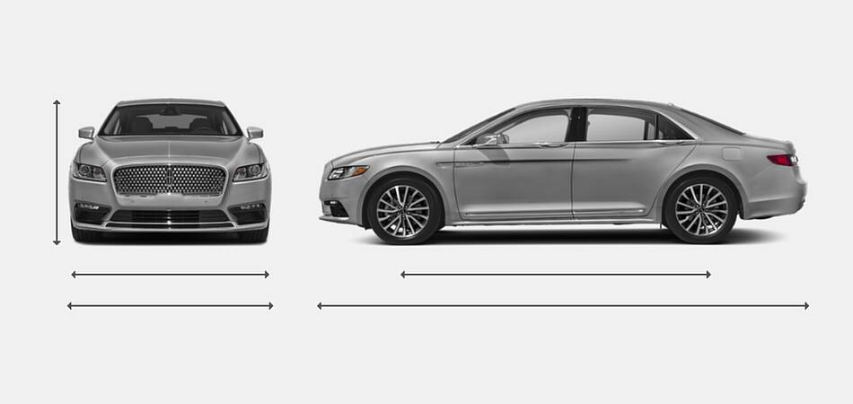 2020 Lincoln Continental Exterior Dimensions