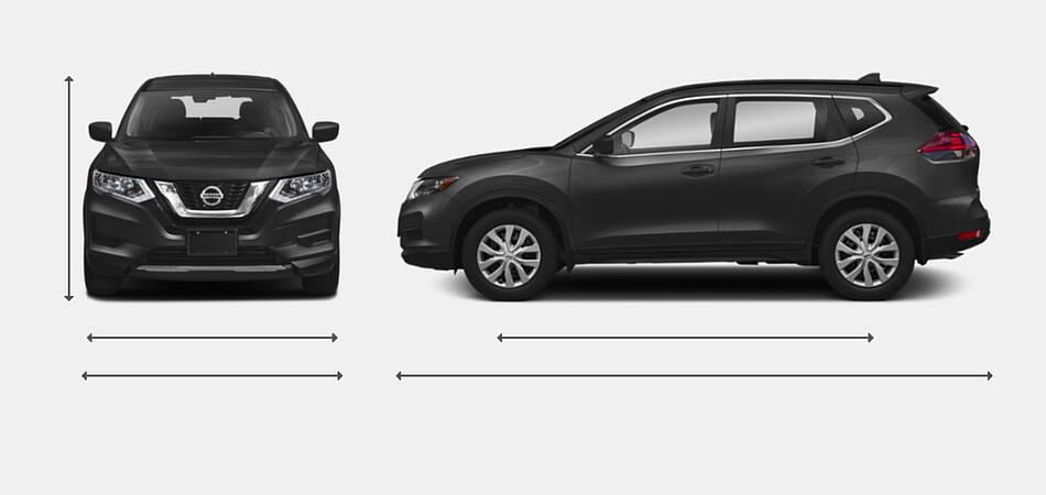 2020 Nissan Rogue Exterior Dimensions