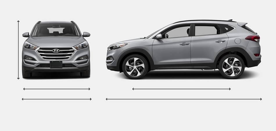 2016 Hyundai Tucson Exterior Dimensions