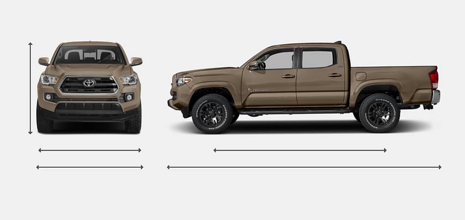 2016 Toyota Tacoma Access Cab Exterior Dimensions