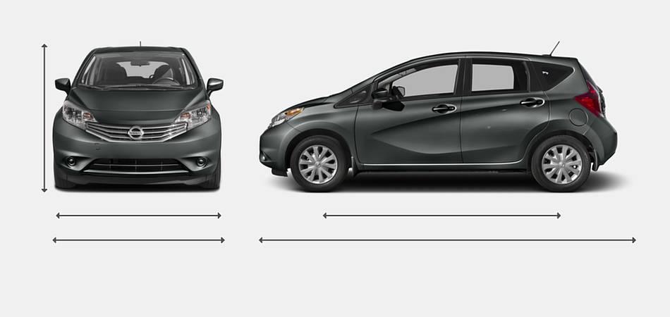 2016 Nissan Versa Note Exterior Dimensions