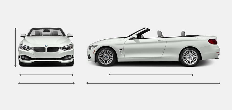 2017 BMW 4 Series Convertible Exterior Dimensions