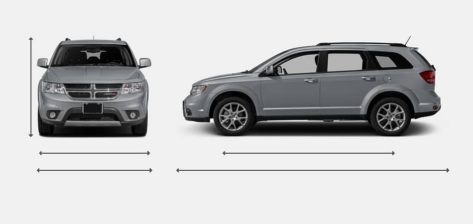 2016 Dodge Journey Exterior Dimensions