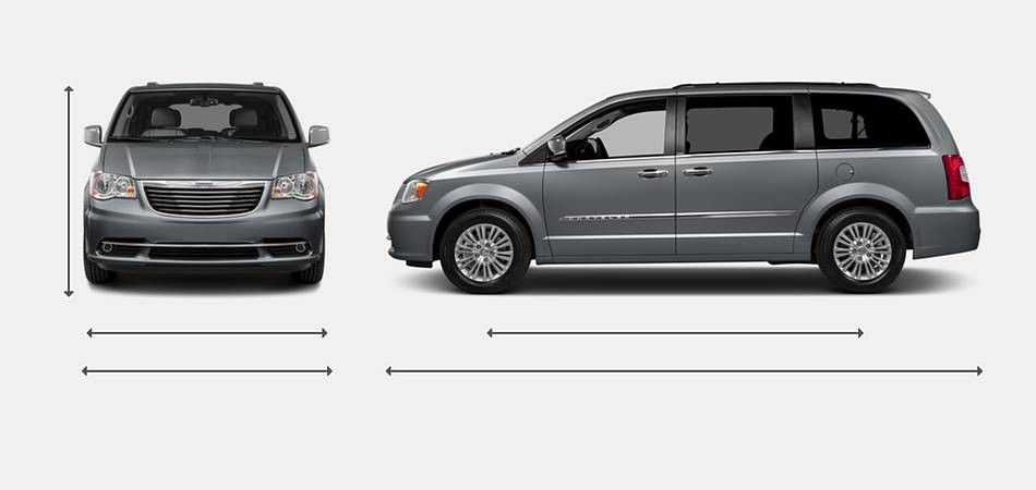2016 Chrysler Town and Country Exterior Dimensions
