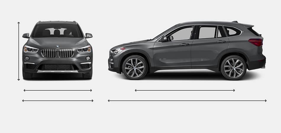 2016 BMW X1 Exterior Dimensions