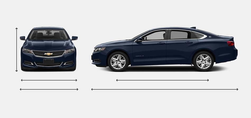 2018 Chevrolet Impala Exterior Dimensions