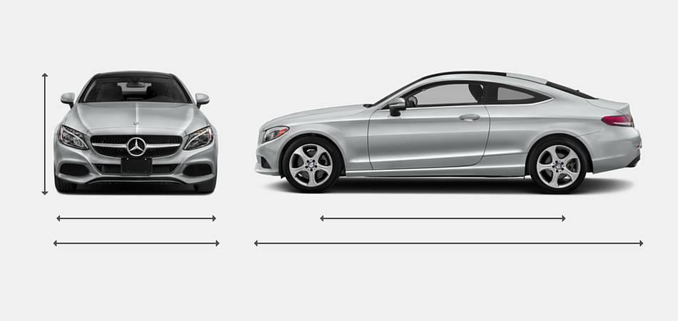2018 Mercedes-Benz C-Class Coupe Exterior Dimensions