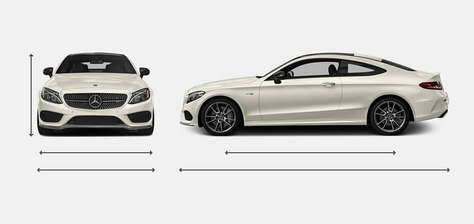 2018 Mercedes-Benz C-Class Coupe AMG C 43 Exterior Dimensions