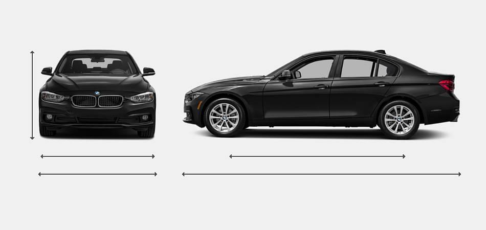 2018 BMW 3 Series Sedan Exterior Dimensions