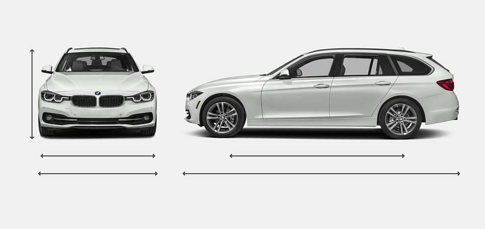 2018 BMW 3 Series Wagon Exterior Dimensions