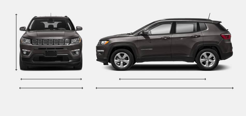 2019 Jeep Compass Exterior Dimensions