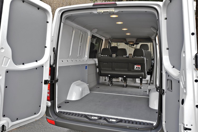 Mercedes-Benz Sprinter 2500 144 WB Crew Passenger Van Cargo Area (2013 model year shown)