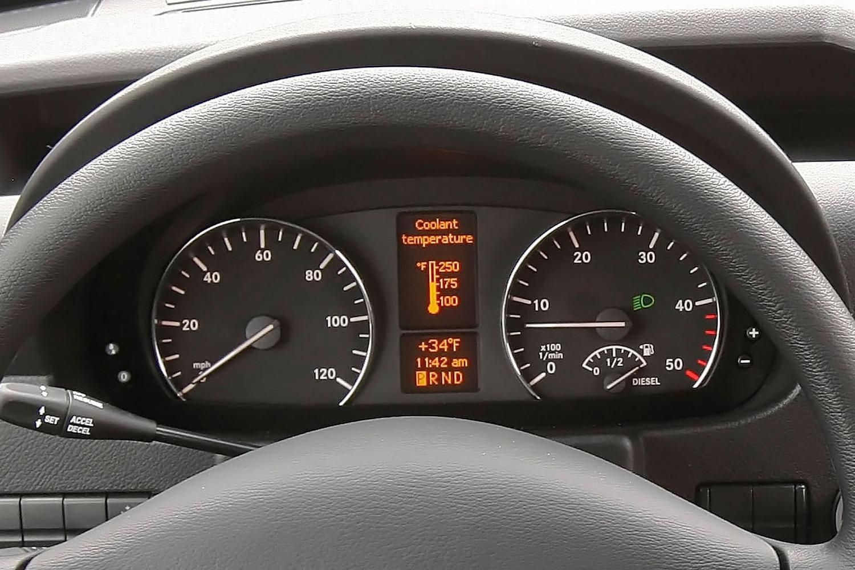 Mercedes-Benz Sprinter 2500 144 WB Passenger Passenger Van Gauge Cluster (2013 model year shown)
