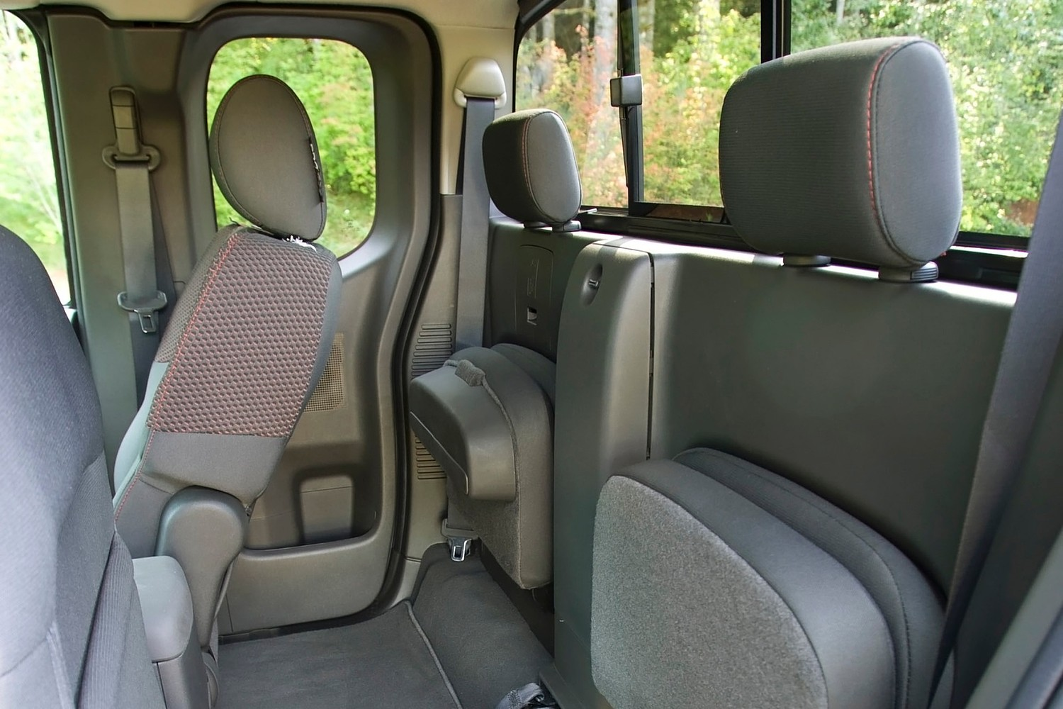 Nissan Frontier PRO-4X Extended Cab Pickup Rear Interior (2013 model year shown)