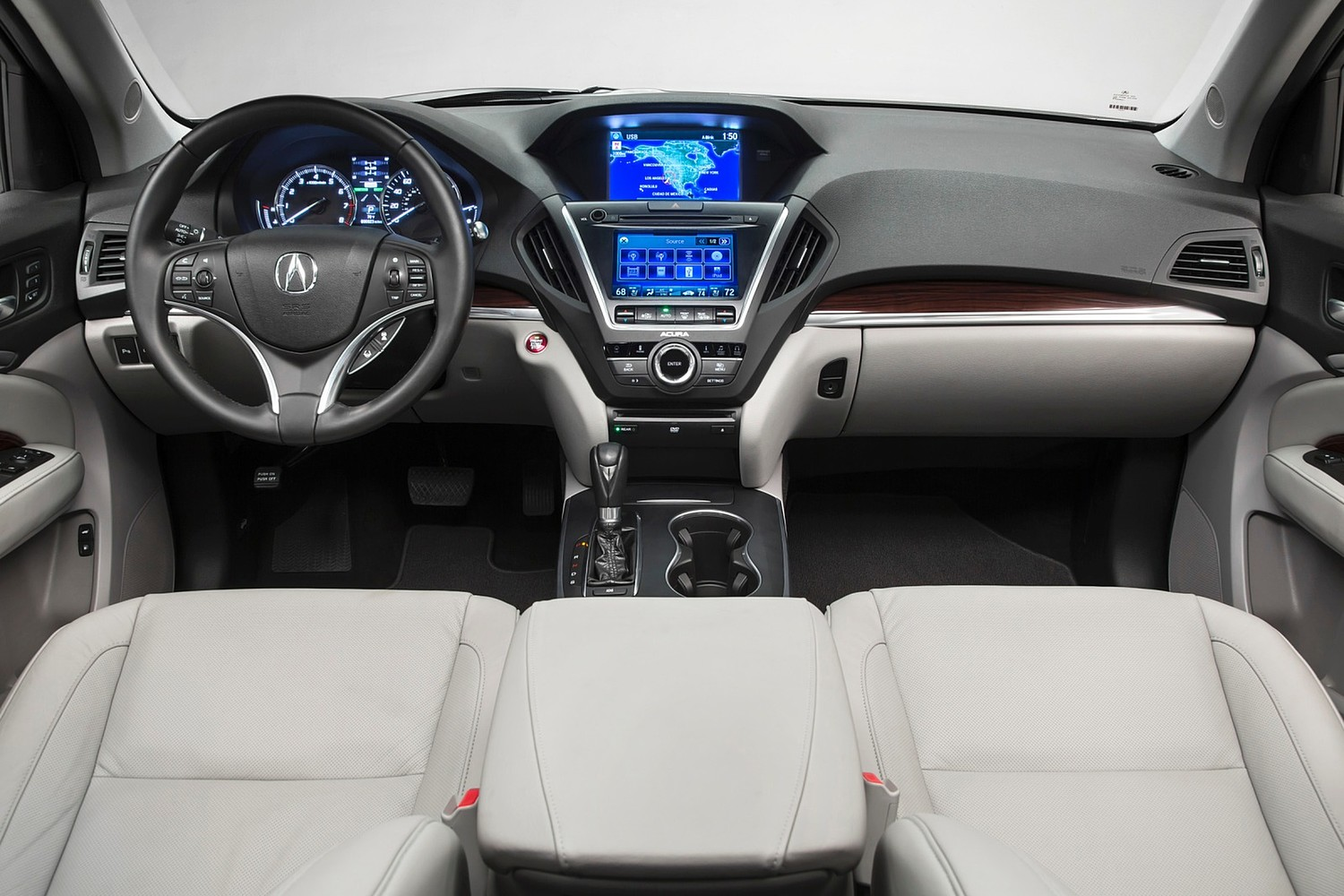 Acura MDX SH-AWD w/Technology and Entertainment Packages 4dr SUV Dashboard (2014 model year shown)